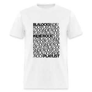 White/Black Text - Men's T-Shirt