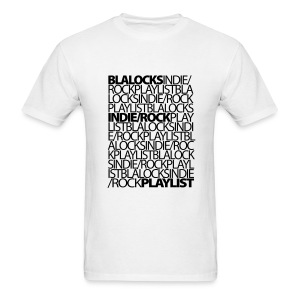 White/Black Text - Men's T-Shirt