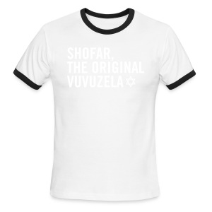 Shofar - Magen David - Men's Ringer T-Shirt