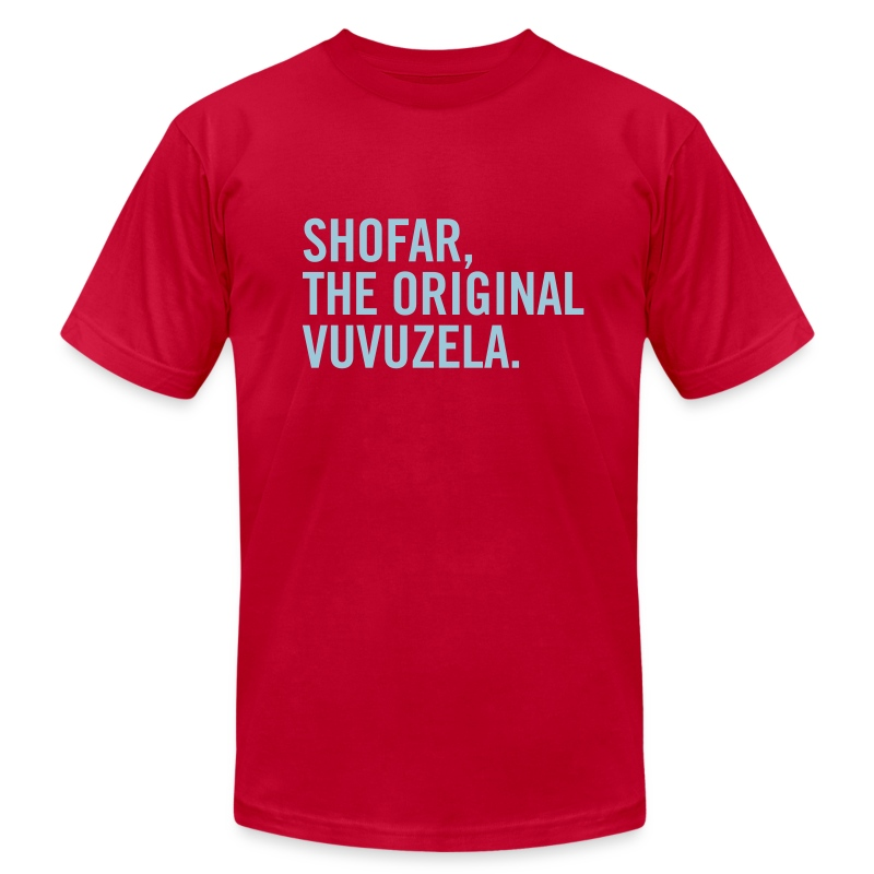 Shofar - Vuvuzela - Blue - Men's T-Shirt by American Apparel