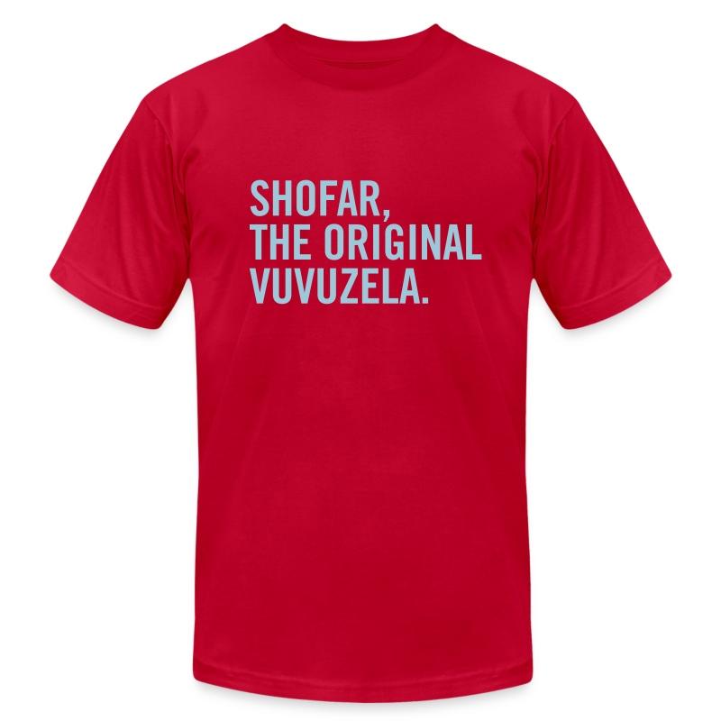 Shofar - Vuvuzela - Blue - Men's Fine Jersey T-Shirt