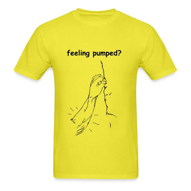 Climbing T-shirt - Feeling Pumped - Green