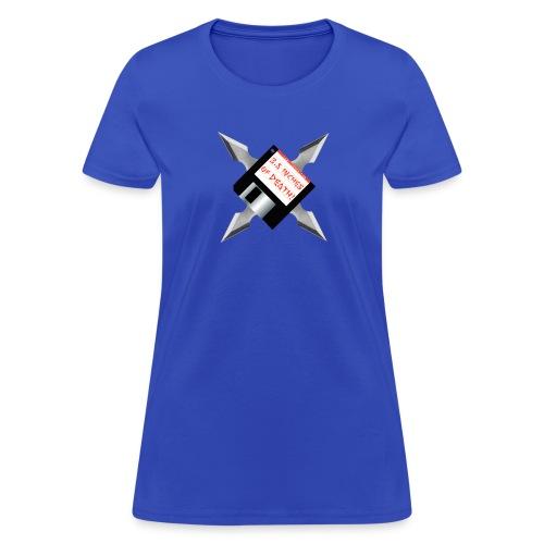 Floppy Disk Ninja Star - Women's T-Shirt