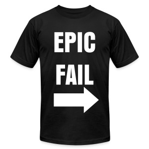 Epic Fail (Left) - Men's T-Shirt by American Apparel