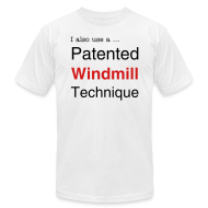 T-Shirts ~ Men's T-Shirt by American Apparel ~ Patented Windmill Technique for Men