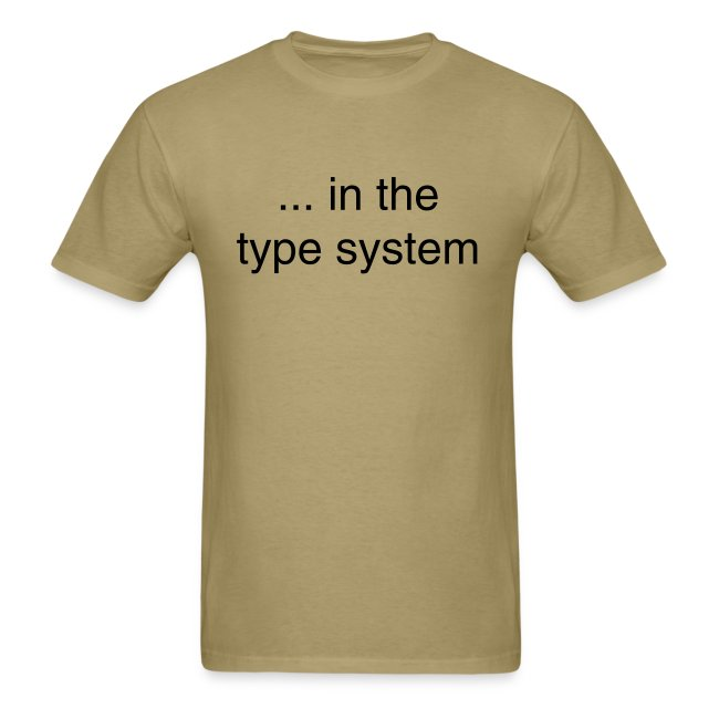 ... in the type system