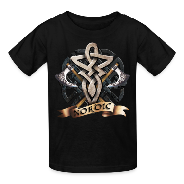 Black tribal_knot_viking_a Kids' Shirts