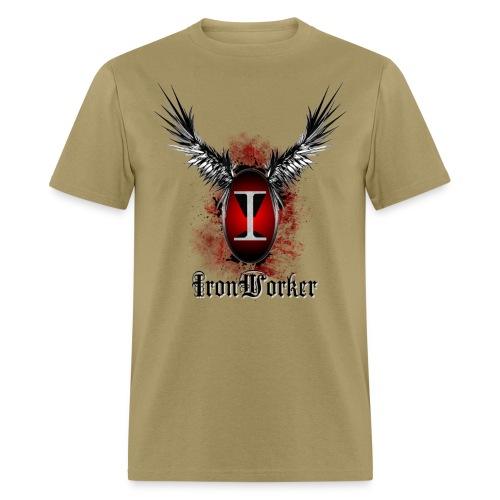 IronWorker - Wings Crest (khaki) - Men's T-Shirt