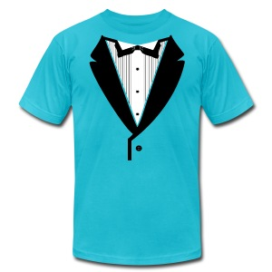 Black Lapel American Apparel - Men's T-Shirt by American Apparel