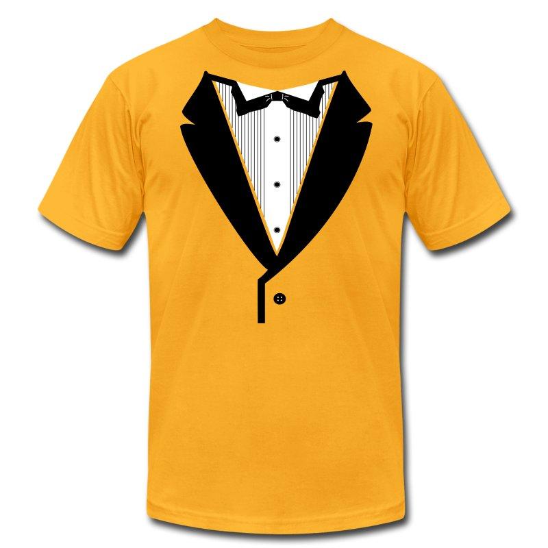 Black lapel tuxedo t shirt spreadshirt for Make your own tuxedo t shirt