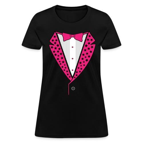 Pink Star Tuxedo - Women's T-Shirt