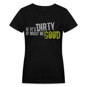 Mud Run Tee - Women's - Women's V-Neck T-Shirt
