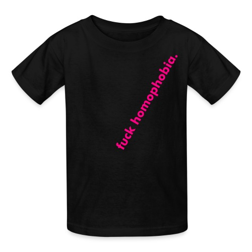 ON SALE AT GRAND OPENING PRICE!  kids' fuck homophobia tee - introductory design! - Kids' T-Shirt