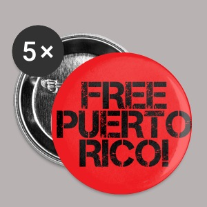 FREE PUERTO RICO RED 1 BUTTON - Small Buttons