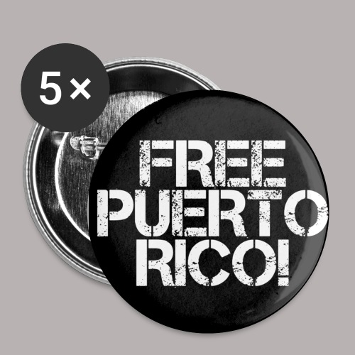 FREE PUERTO RICO BLACK 1 BUTTON - Small Buttons