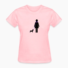 Pink Well-Trained Human Speachless Women's T-Shirts