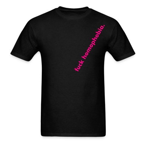 ON SALE at GRAND OPENING PRICE!  fuck homophobia tee - introductory design! - Men's T-Shirt