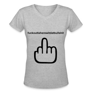 F.U.  - Women's V-Neck T-Shirt