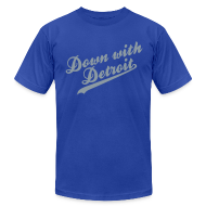 T-Shirts ~ Men's T-Shirt by American Apparel ~ Down with Detroit Men's American Apparel Tee