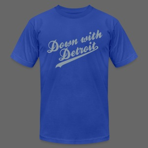 Down with Detroit Men's American Apparel Tee - Men's T-Shirt by American Apparel