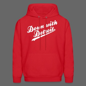 Down with Detroit Men's Hooded Sweatshirt - Men's Hoodie
