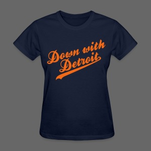 Down with Detroit Women's Standard Weight T-Shirt - Women's T-Shirt