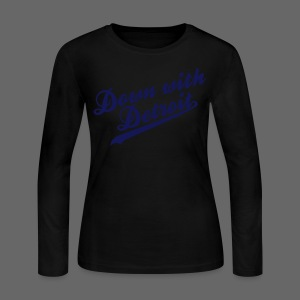 Down with Detroit Women's Long Sleeve Jersey Tee - Women's Long Sleeve Jersey T-Shirt