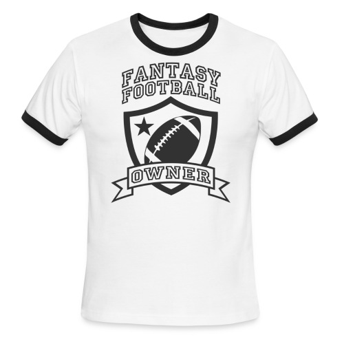 Custom Fantasy Football Owner T-shirts - Men's Ringer T-Shirt