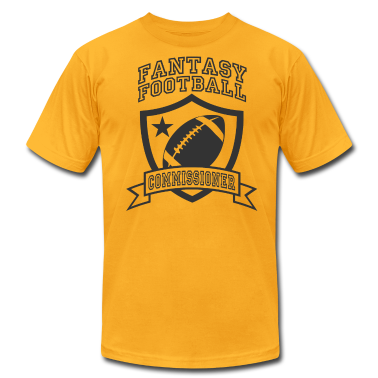 Gold fantasy football commissioner T-Shirts