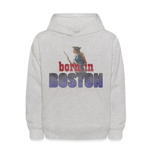 Born in Boston Kid's Hooded Sweatshirt - Kids' Hoodie