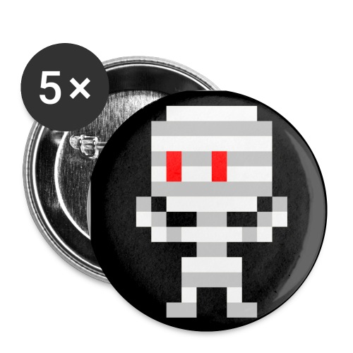 8-bit Mummy Buttons (Small) - Buttons small 1'' (5-pack)