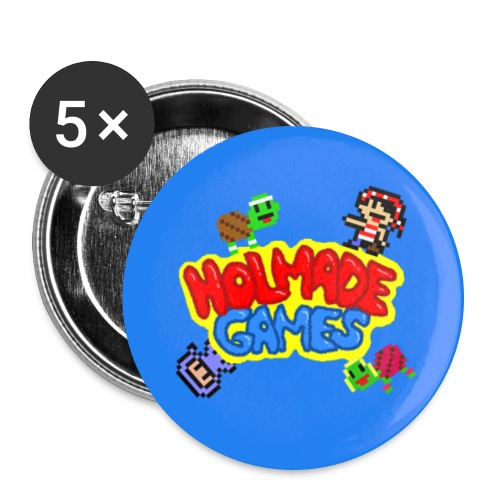 Holmade Games Logo Buttons (Large) - Buttons large 2.2'' (5-pack)