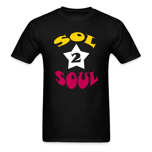 Sol2Soul Star T-Shirt - Black - Men's T-Shirt