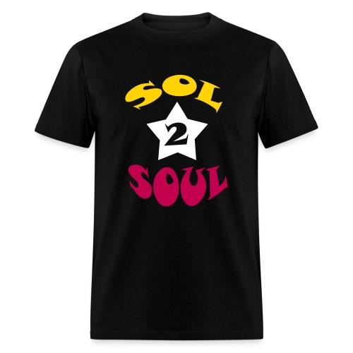 Sol2Soul Star T-Shirt - Black - Men's T-Shirt