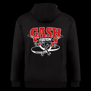 Gash Station Men's Zip Up Hoodie - Men's Zip Hoodie