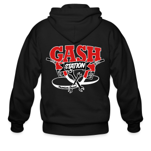 Gash Station Men's Zip Up Hoodie - Men's Zip Hoodie