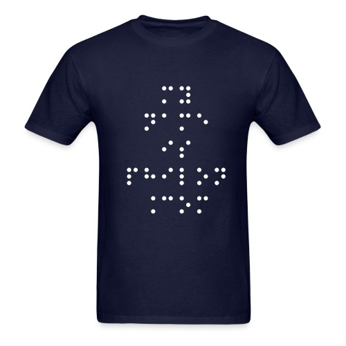 my name is philon BRAILLE - Men's T-Shirt