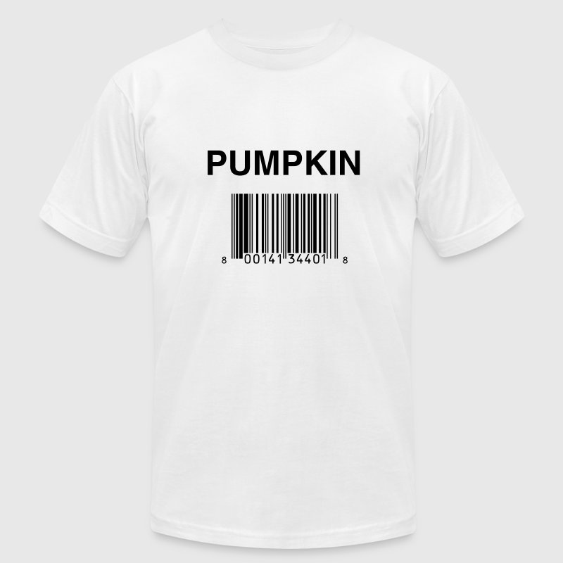 White UPC Code T-Shirts - Men's T-Shirt by American Apparel