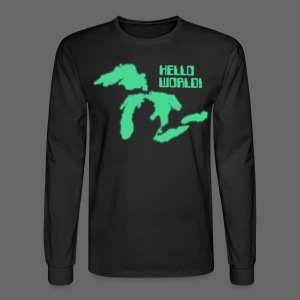 Hello World Men's Long Sleeve Tee - Men's Long Sleeve T-Shirt