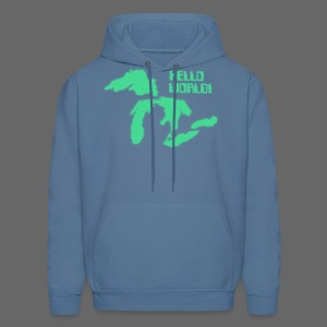 Hello World Men's Hooded Sweatshirt - Men's Hoodie