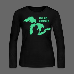 Hello World Women's Long Sleeve Jersey Tee - Women's Long Sleeve Jersey T-Shirt