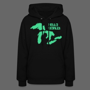 Hello World Women's Hooded Sweatshirt - Women's Hoodie