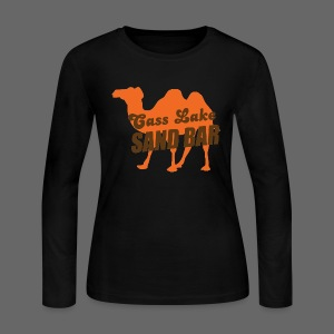 Cass Lake Sand Bar Women's Long Sleeve Jersey Tee - Women's Long Sleeve Jersey T-Shirt