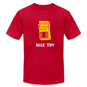 Nice Try // Red - Men's Fine Jersey T-Shirt