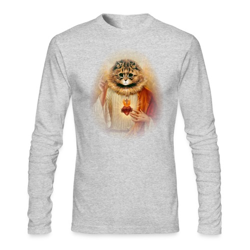 Kitty Jesus - Men's Long Sleeve T-Shirt by Next Level