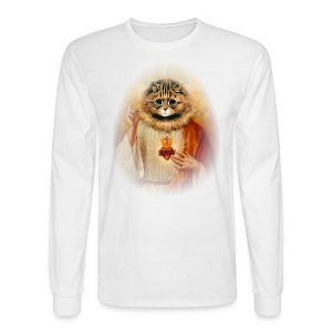 Kitty Jesus - Men's Long Sleeve T-Shirt