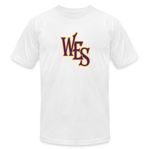 WES - front - Men's Fine Jersey T-Shirt