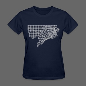 Detroit Street Map Women's Standard Weight T-Shirt - Women's T-Shirt