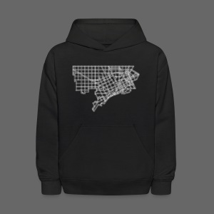 Detroit Street Map Kid's Hooded Sweatshirt - Kids' Hoodie