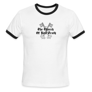 Property of the Church of Real Truth Men's ringer t-shirt - Men's Ringer T-Shirt